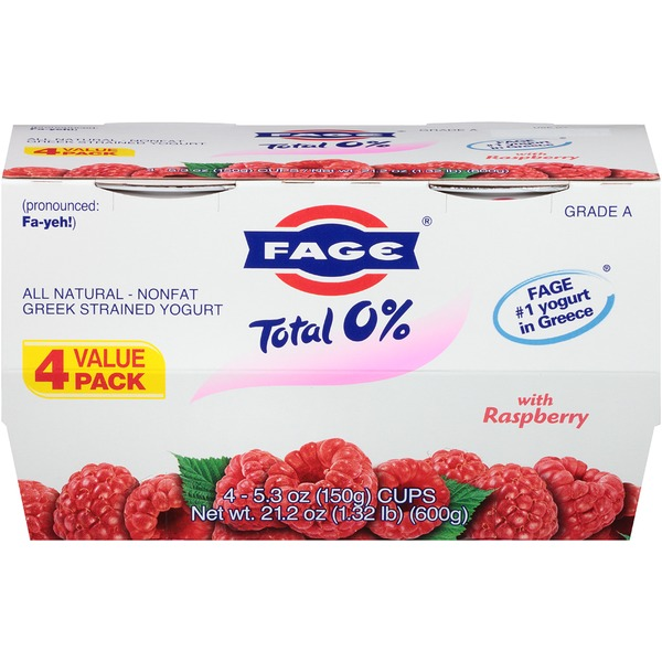 Fage Total 0% with Raspberry Nonfat Greek Strained Yogurt