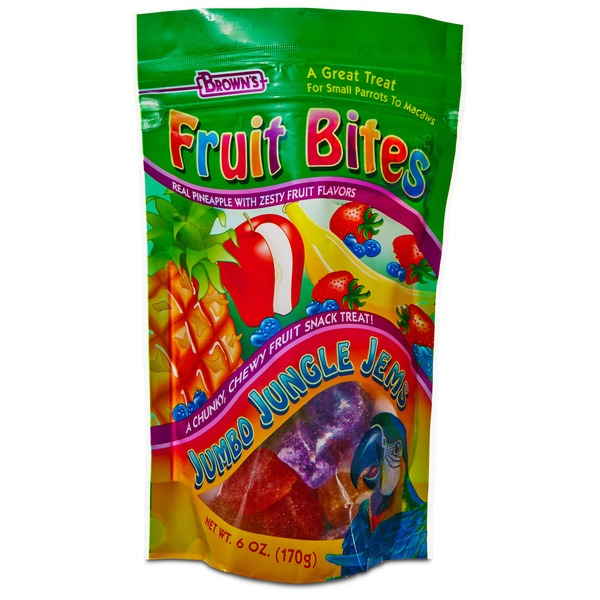 Brown's Fruit Bites Jungle Jems Parrot Treats