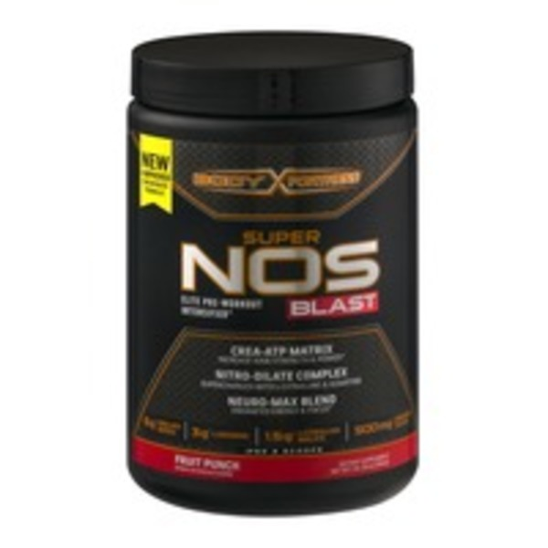 Body Fortress Super NOS Blast Elite Pre-Workout Intensifier Fruit Punch