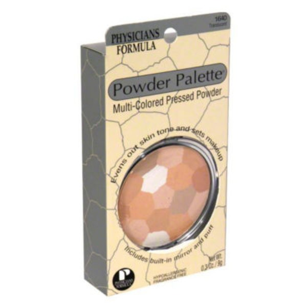 Powder Palette® 1640 Translucent Multi-Colored -- 1640C Translucide Multicolore Pressed Powder -- Poudre Compacte