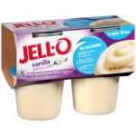 JELL-O Sugar Free Vanilla Reduced Calorie Pudding Snacks, 4 count, 14.5 oz