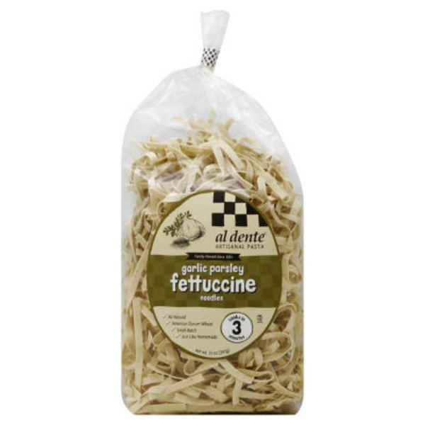 Al Dente Fettuccine Noodles, Garlic Parsley