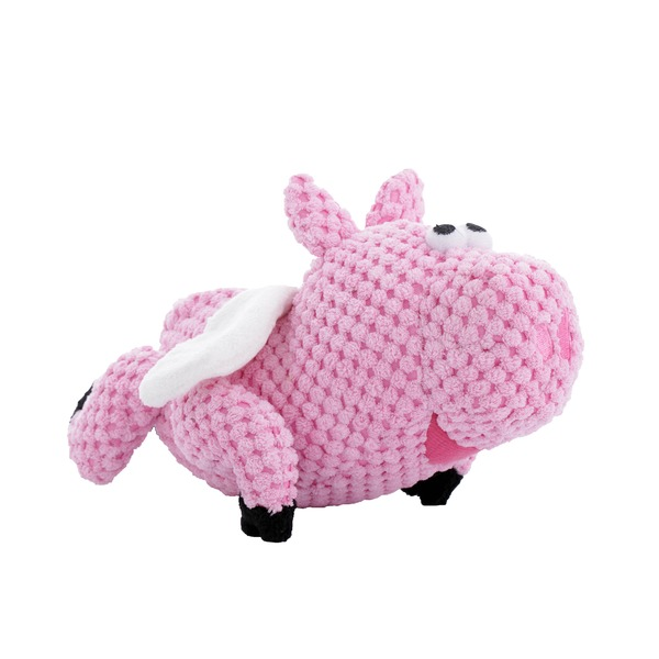 Godog Small Pink Flying Pig Dog Toy