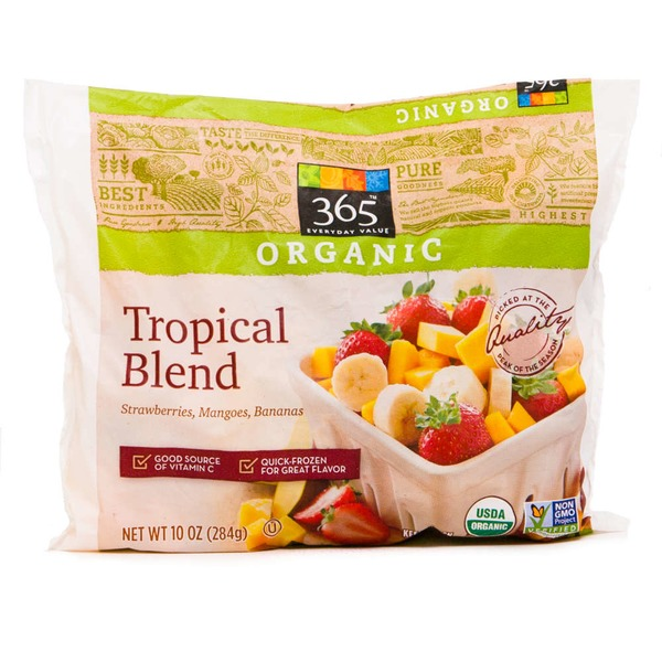 365 Organic Frozen Tropical Fruit Mix