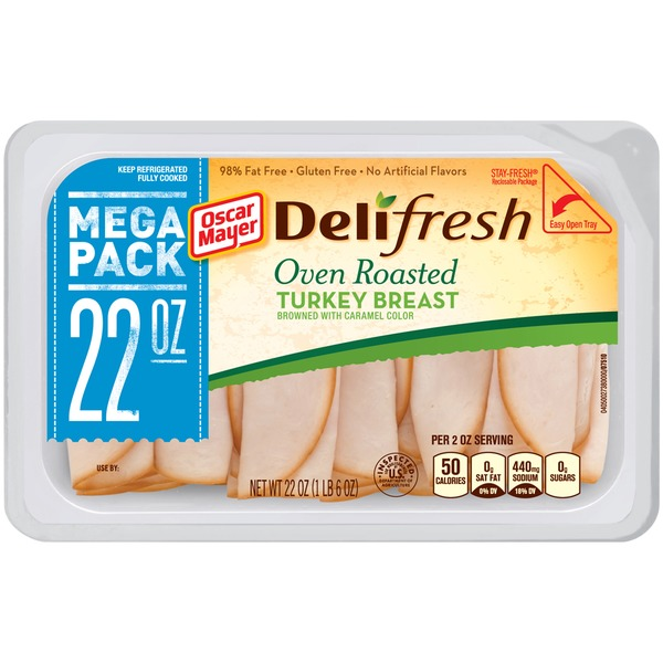 Oscar Mayer Deli Fresh Oven Roasted 98% Fat Free Turkey Breast