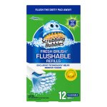 Scrubbing Bubbles Fresh Brush Flushables Refill, Citrus Action Scent, 12 count