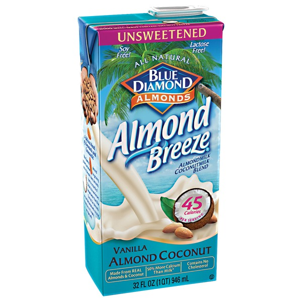 Almond Breeze Unsweetened Vanilla Almond Coconut Almond Milk Non Dairy Milk Alternative