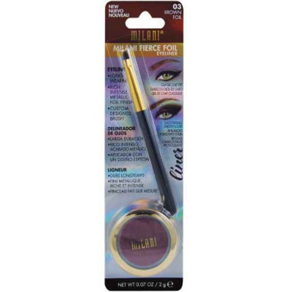 Milani Fierce Foil Eyeliner, Brown Foil