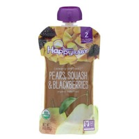 Happy Baby/Family Pears, Squash & Blackberries Organic Baby Food