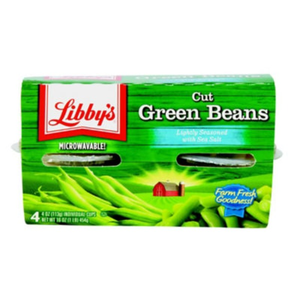Libby's Cut Lightly Seasoned with Sea Salt Green Beans