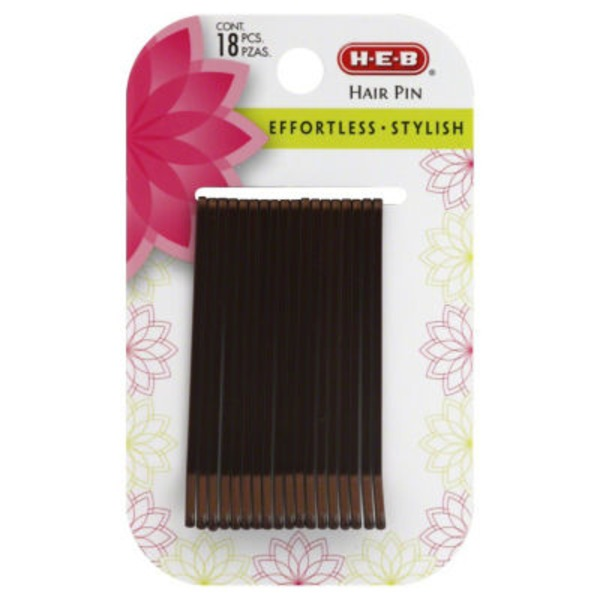 H-E-B Large Brown Hair Pins