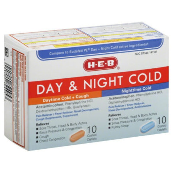 H-E-B Day & Night Cold & Cough Relief