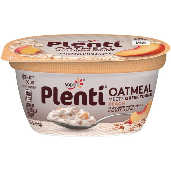Yoplait Plenti Greek Peach Oatmeal with Yogurt
