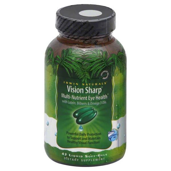 Irwin Naturals Vision Sharp, Liquid Soft-Gels