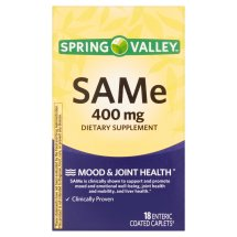 Spring Valley SAMe Enteric Caplets, 400 mg, 18 Ct