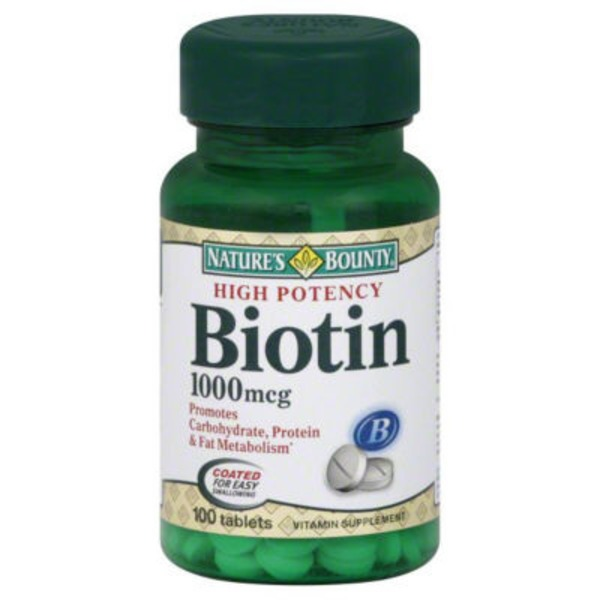 Nature's Bounty High Potency Biotin Vitamin Tablets 1000 mcg - 100 CT
