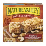 Nature Valley Granola Bars, Sweet and Salty Nut, Cashew, 6 Bars - 1.2 oz, 1.2 OZ