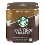 Starbucks Doubleshot Espresso & Cream, 9.5 Fl Oz, 4 Count