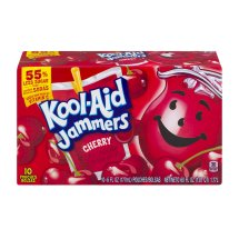 Kool-Aid Jammers Fruit Juice Pouches, Cherry, 6 Fl Oz, 10 Count