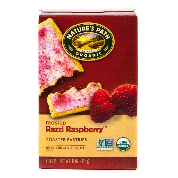Nature's Path Organic Razzi Raspberry Frosted Toaster Pastries 6 Count