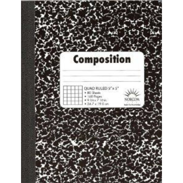 Norcom 5 X 5 Quad Composition Book 80 Sheets