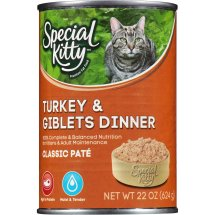 Special Kitty Classic Pate Turkey & Giblets Dinner Wet Cat Food, 22 Oz