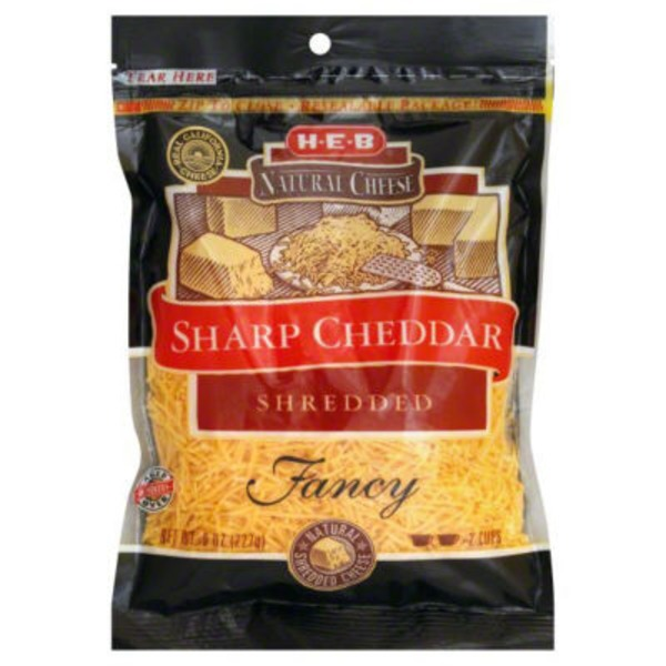 H-E-B Shredded Sharp Cheddar Cheese