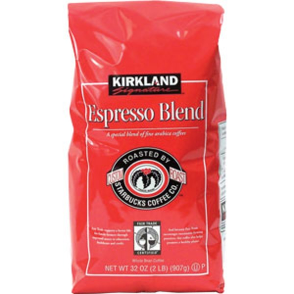 Kirkland Signature Espresso Blend Dark Roast Whole Bean Coffee