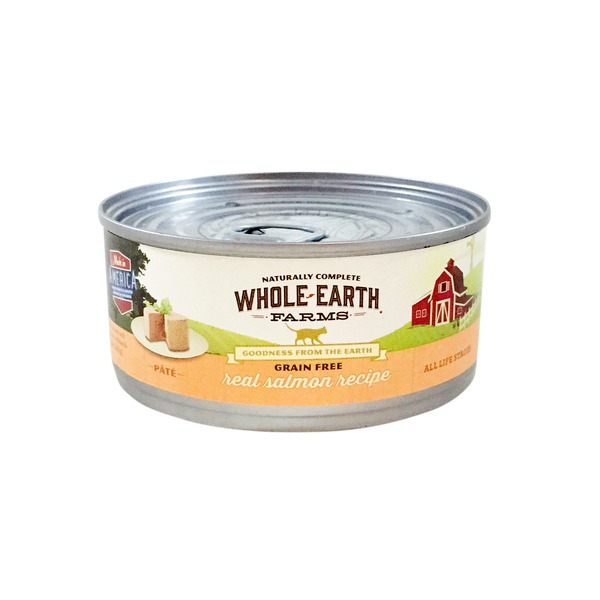 Whole Earth Farms Grain Free Real Salmon Recipe Pate Cat Food