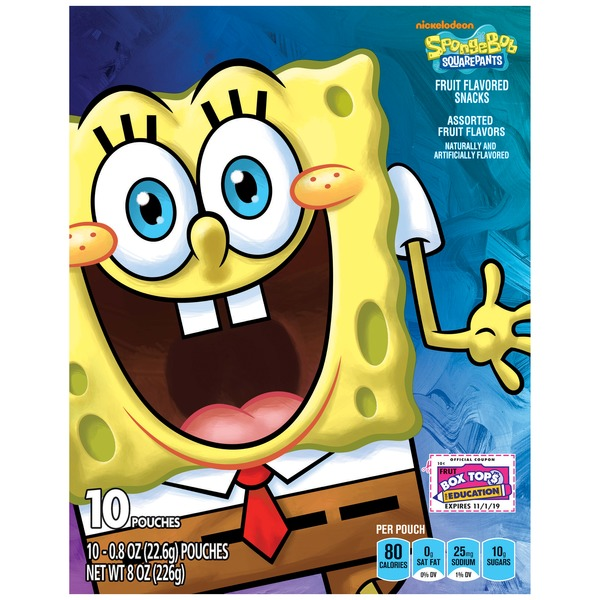 Betty Crocker SpongeBob SquarePants Fruit Flavored Snacks