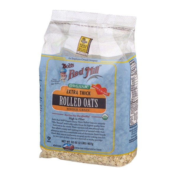 Bob's Red Mill Organic Extra Thick Rolled Oats Whole Grain