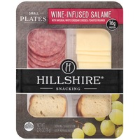 Hillshire Snacking Wine-Infused Salame with Natural White Cheddar Cheese & Toasted Rounds Small Plates