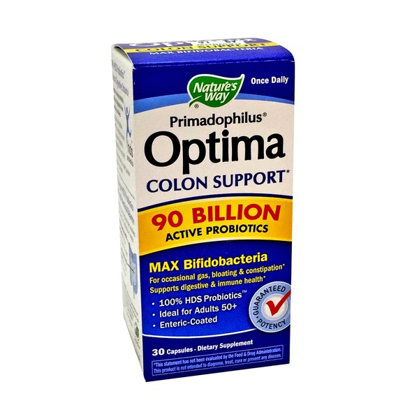 Nature's Way Primadophilus Optima Colon Support 90 Billion Active Probiotics capsules
