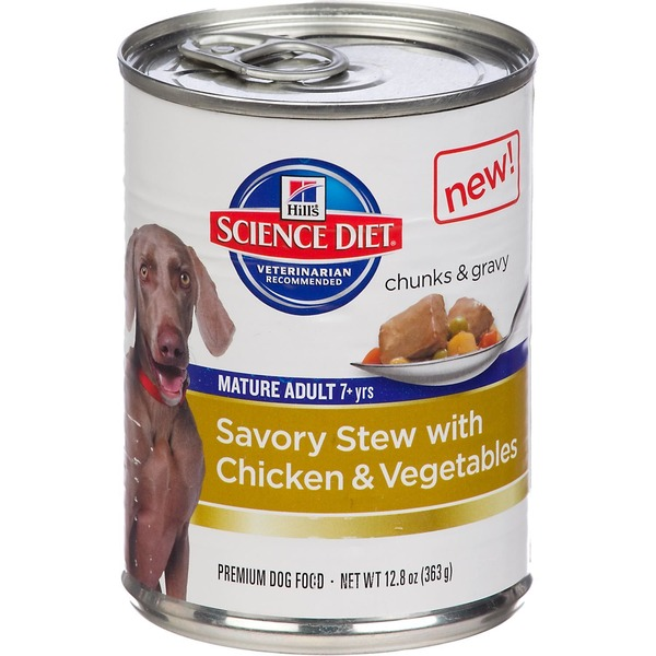 Hill's Science Diet Dog Food, Premium, Mature Adult, Savory Stew with Chicken & Vegetables