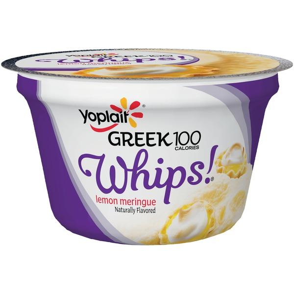 Yoplait Greek 100 Calories Whips! Lemon Meringue Fat Free Yogurt Mousse