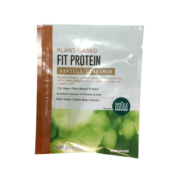 Whole Foods Market Vanilla Cinnamon Fit Plant Protein