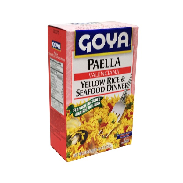 Goya Paella Valenciana Yellow Rice & Seafood Dinner