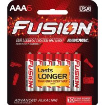 Fusion by Rayovac High-Power Alkaline AAA Batteries, 6-Pack