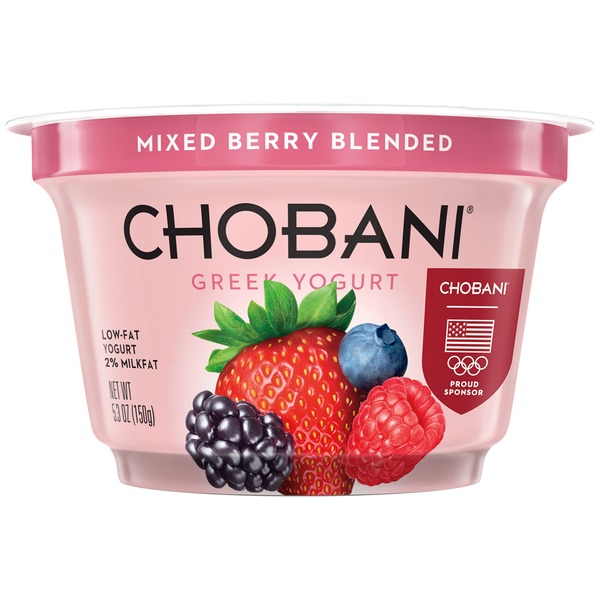 Chobani Mixed Berry Blended Low-Fat Greek Yogurt