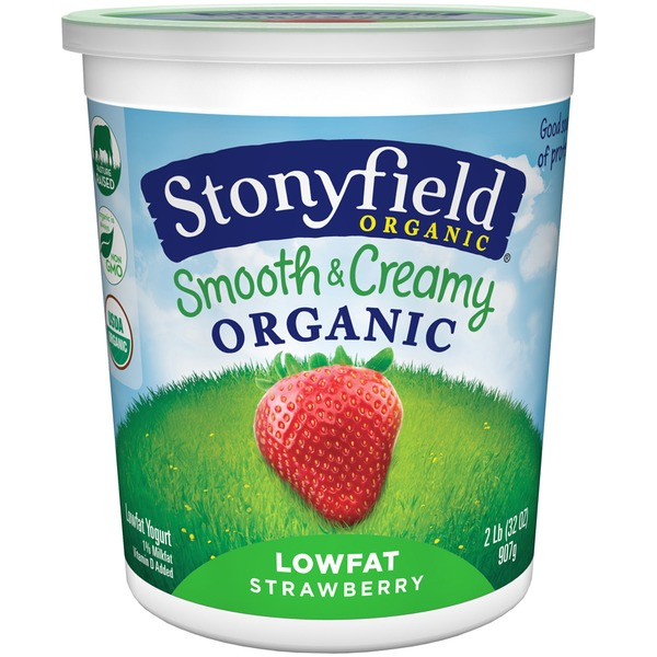Stonyfield Organic Organic Smooth & Creamy Lowfat Strawberry Yogurt