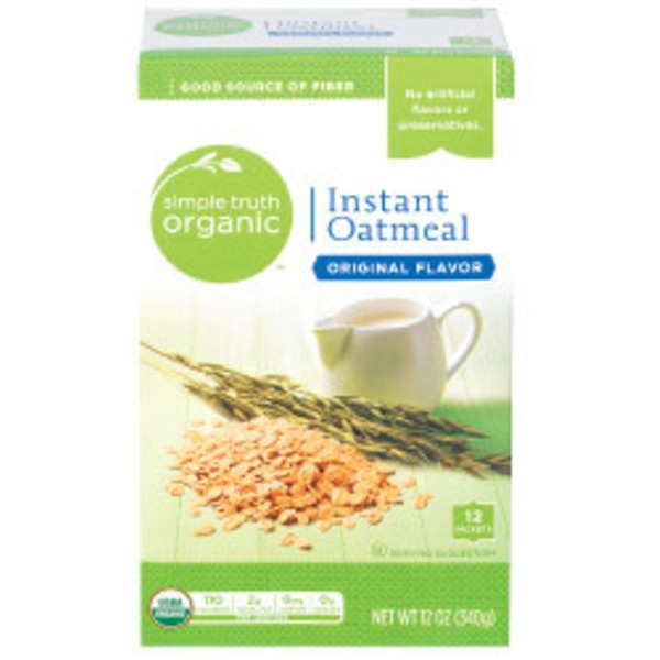 Simple Truth Organic Instant Oatmeal Original Flavor