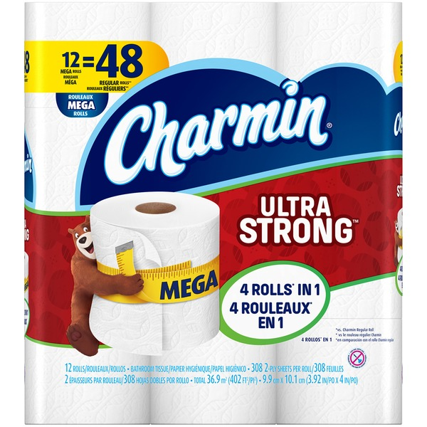 Charmin Ultra Strong Bathroom Tissue Mega Rolls
