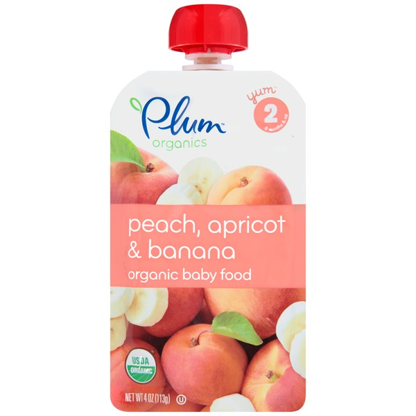 Plum Baby Peach, Apricot & Banana Stage 2 Baby Food