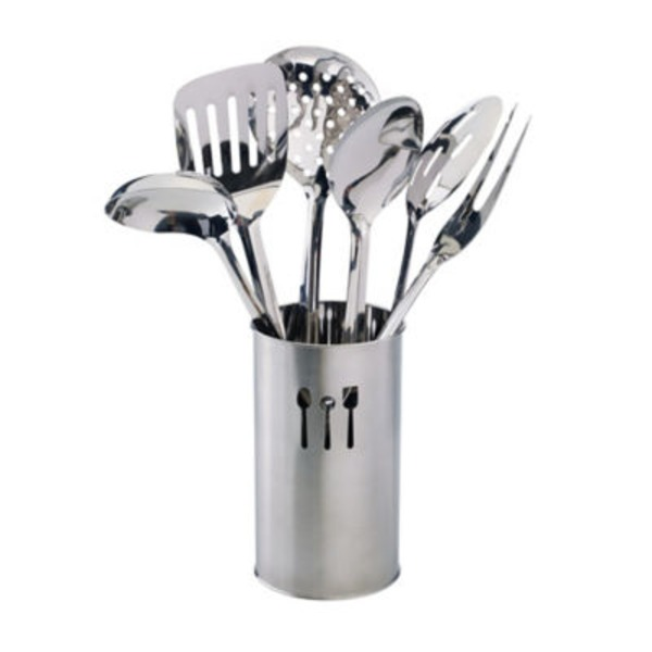 Inox Kitchnware Stainless Steel Kitchen Tool Holder Set