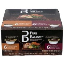 Pure Balance Canned Chicken & Beef Wet Dog Food, 3.5 Oz, 12 Ct