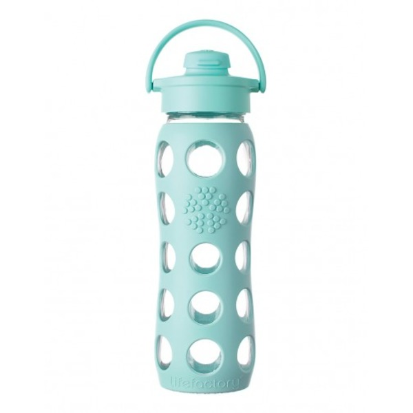Lifefactory 12 Oz Glass Flip Top Bottle Ocean