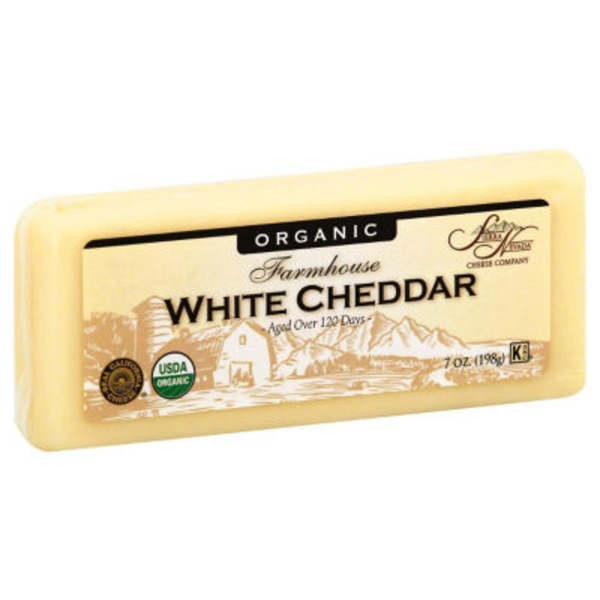 Sierra Nevada Cheese, White Cheddar, Organic, Wrapper