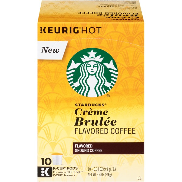 Starbucks Creme Brulee Flavored Coffee K-Cup Pods