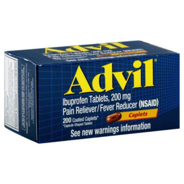 Advil Coated Caplets Pain Reliever/Fever Reducer