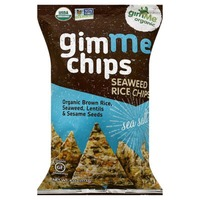 gimMe Organic Seaweed Chips with Brown Rice Sea Salt